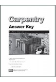 Carpentry Workbook Answer Key